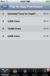 Triple Town iOS In App Purchases List